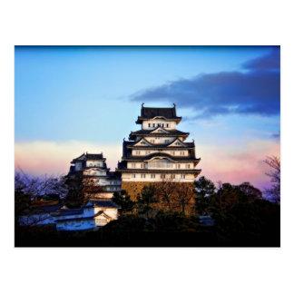 Castillo de Himeji en la salida del sol Tarjetas Postales