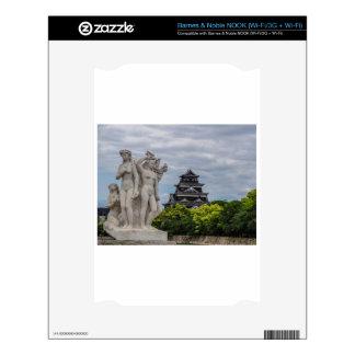 Castillo de Hiroshima Calcomanías Para El NOOK