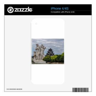 Castillo de Hiroshima iPhone 4S Calcomanías