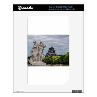 Castillo de Hiroshima Calcomanías Para El NOOK Color