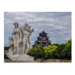 Castillo de Hiroshima Tarjeta Postal