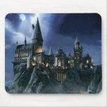 Castillo de Hogwarts en la noche Alfombrillas De Ratón