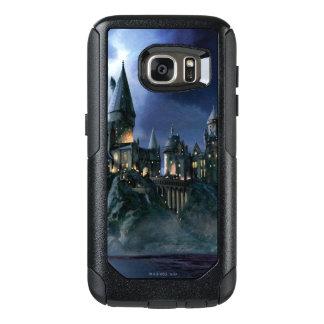 Castillo de Hogwarts en la noche Funda Otterbox Para Samsung Galaxy S7