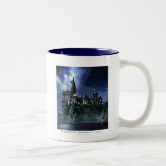 Castillo de Hogwarts en la noche Taza De Café