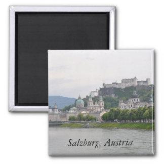 Castillo de Hohensalzburg, Salzburg, Austria Imán Cuadrado