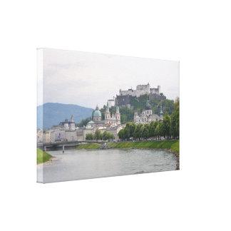 Castillo de Hohensalzburg, Salzburg, Austria Impresión En Lienzo