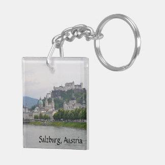 Castillo de Hohensalzburg, Salzburg, Austria Llavero Cuadrado Acrílico A Doble Cara