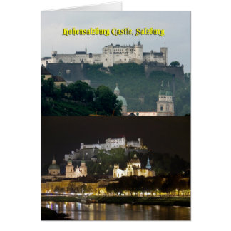 Castillo de Hohensalzburg, Salzburg, Austria Tarjeta De Felicitación