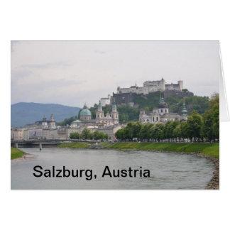 Castillo de Hohensalzburg, tarjeta de nota de Salz