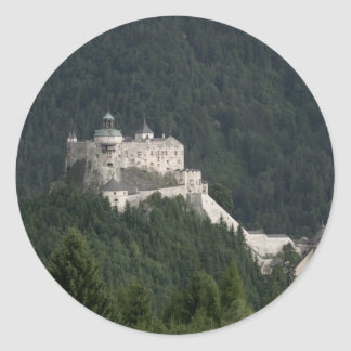 Castillo de Hohenwerfen Etiquetas Redondas
