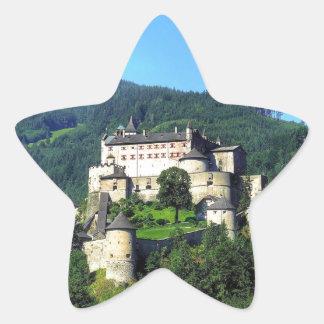 Castillo de Hohenwerfen Colcomanias Forma De Estrella Personalizadas
