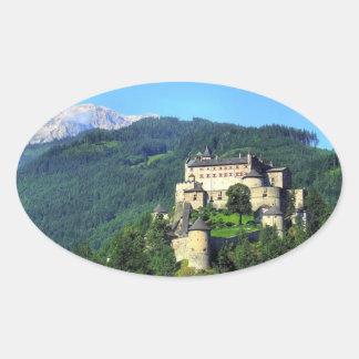 Castillo de Hohenwerfen Calcomania De Oval