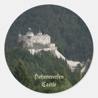 Castillo de Hohenwerfen Pegatina Redonda