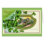 Castillo de Irlanda del vintage del día de St Patr Tarjetas