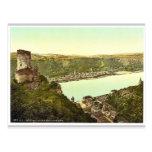 Castillo de Katz, Goarshausen (es decir, Sankt Goa Tarjetas Postales