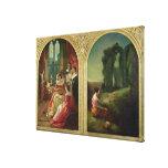 Castillo de Kenilworth - pasado y presente, 1854 Lona Envuelta Para Galerías