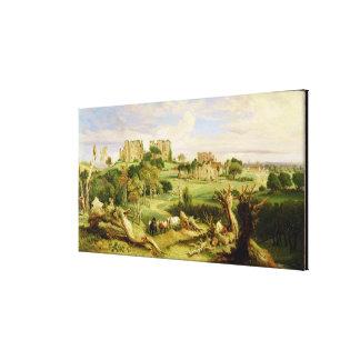 Castillo de Kenilworth, Warwickshire, 1840 (aceite Impresion De Lienzo