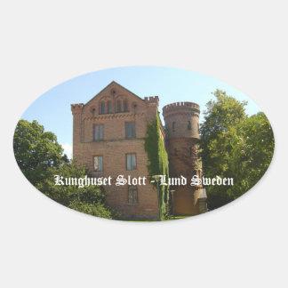 Castillo de Kunghuset Calcomanía Oval Personalizadas