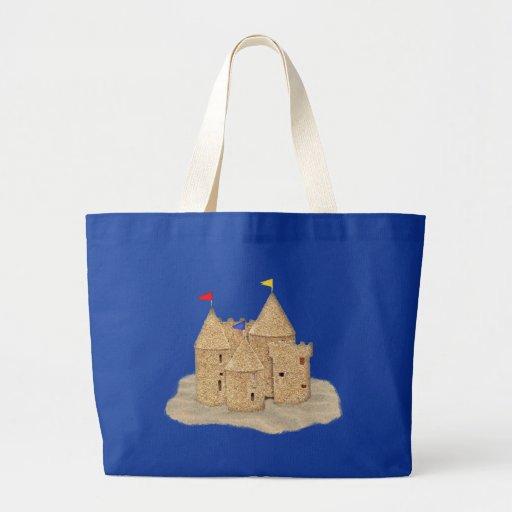 Castillo de la arena bolsa tela grande