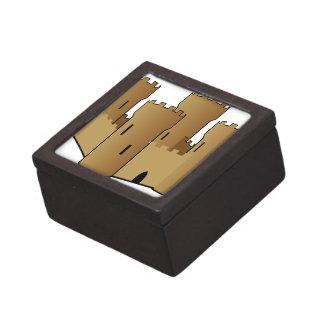 Castillo de la arena caja de joyas de calidad