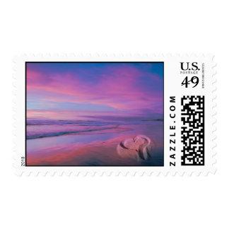 Castillo de la arena del amor timbres postales