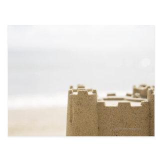 Castillo de la arena postal