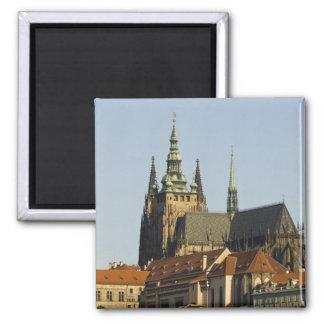 Castillo de la catedral y de Praga del St. Vitus,  Imán De Nevera