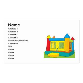 Castillo de la despedida plantillas de tarjetas de visita