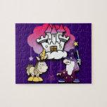 Castillo de la fantasía con el mago y el unicornio puzzle