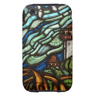 Castillo de la fantasía del vitral iPhone 3 tough carcasa