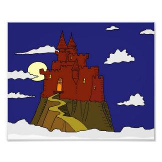 Castillo de la fantasía en las nubes fotografía