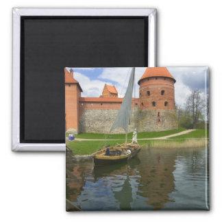 Castillo de la isla por el lago Galve, Trakai, Lit Imán Cuadrado