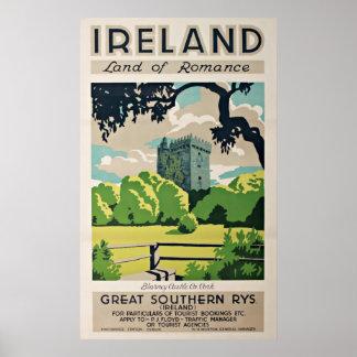 Castillo de la lisonja de Irlanda del poster del v