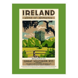 Castillo de la lisonja de Irlanda del poster del v Tarjeta Postal