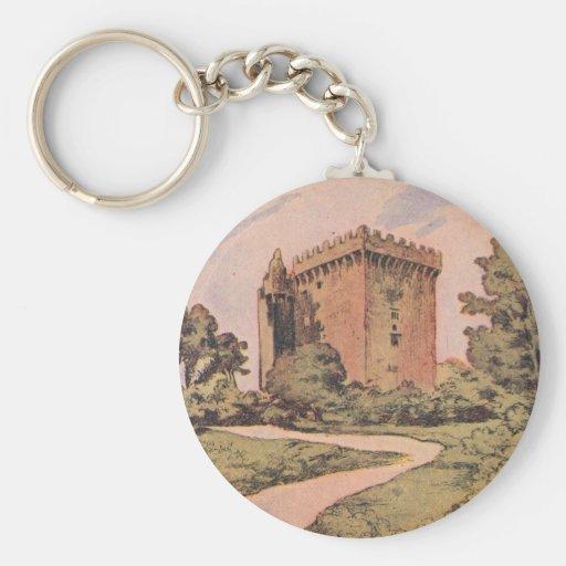 Castillo de la lisonja del vintage llavero