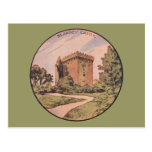 Castillo de la lisonja del vintage postal