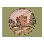 Castillo de la lisonja del vintage tarjetas postales