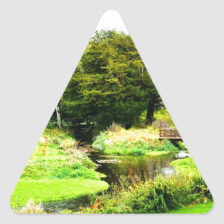 Castillo de la lisonja, Irlanda Pegatina Triangular