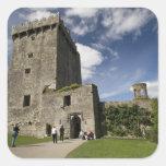 Castillo de la lisonja, Irlanda Calcomanías Cuadradass Personalizadas