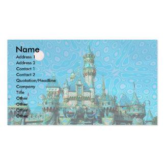 Castillo de la plantilla de los sueños tarjetas de visita