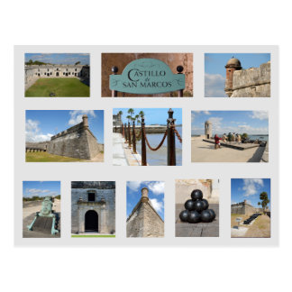 Castillo de la postal St Augustine, la Florida de