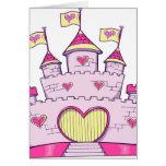Castillo de la princesa felicitaciones
