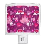 castillo de la princesa y arco iris del unicornio lámpara de noche
