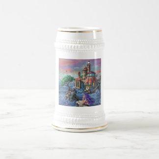 Castillo de la sirena jarra de cerveza