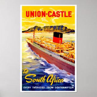 Castillo de la unión a Suráfrica Póster