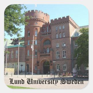 Castillo de la universidad de Lund Pegatina Cuadrada
