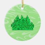 Castillo de la verde lima adorno de navidad
