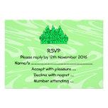 Castillo de la verde lima invitación personalizada