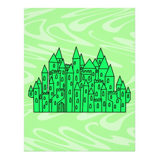 Castillo de la verde lima tarjeta publicitaria