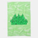 Castillo de la verde lima toalla